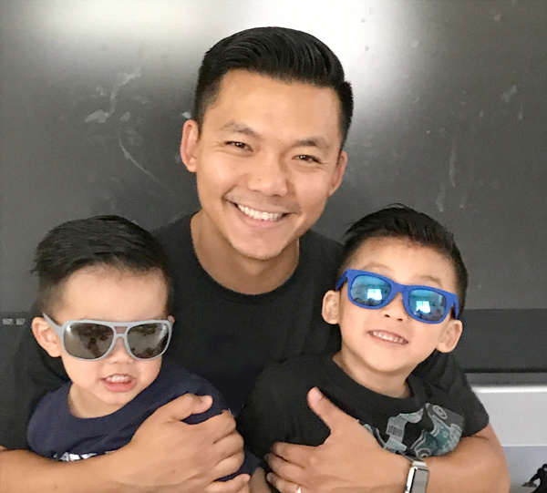 Ty Kaing and his children