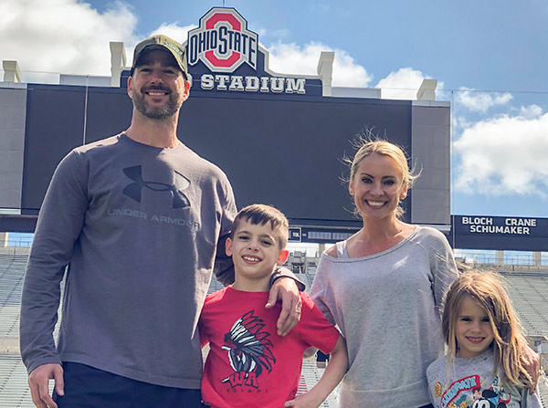 Jason Hawks and his family